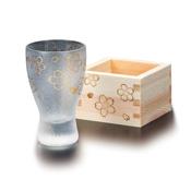 プレミアム桜 枡酒グラス