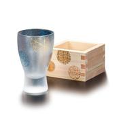頂級圓形圖紋 枡酒玻璃杯