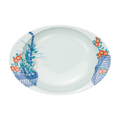 Superb Curry Plate, Flower Basket (Large)
