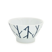 Hasami-Yaki swatch Rice Bowl, Woody