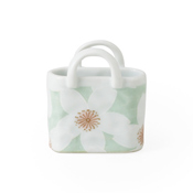 Basket, Large Cherry Blossoms, Green, Mini Size