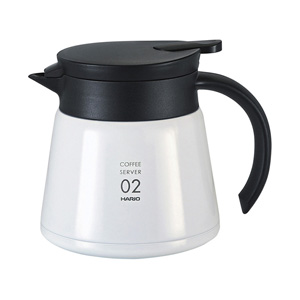 HARIO V60 Thermal Stainless Steel Server 600 (White)