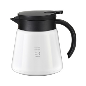 HARIO V60 Thermal Stainless Steel Server 800 (White)
