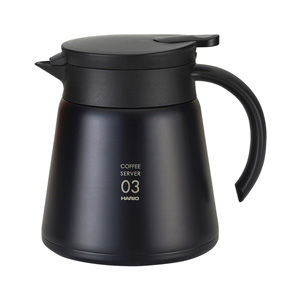 HARIO V60 Thermal Stainless Steel Server 800 (Black)