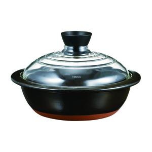 HARIO Clay Pot with Glass Lid No. 8