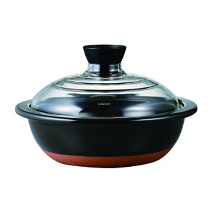 HARIO Clay Pot with Glass Lid No. 9