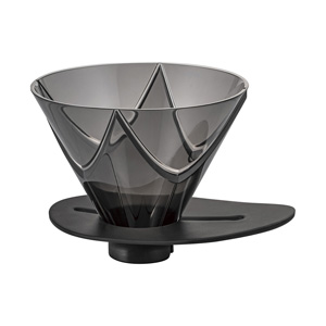 HARIO V60 one time extraction dripper MUGEN (transparent black)