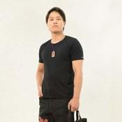 Original Men's Top (Washi Paper) Black x Red