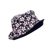 Original Reversible Hat, Black / Pink (Washi Paper Material)