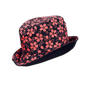 Original Reversible Hat, Black / Red (Washi Paper Material)