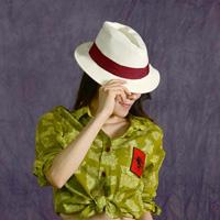 Ladies' White Mannish Hat