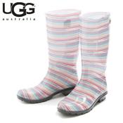 UGG SHAYE SERAPE SEAMIST (Pink & Blue Stripe Pattern) / Rain Boots / Ladies'