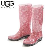 UGG SHAYE BANDANA RACING RED (Pink) / Rain Boots / Ladies'