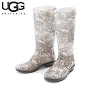UGG SHAYE ISLAND FLORAL TROPICAL BLACK (Black & Beige Multi Pattern) / Rain Boots / Ladies'