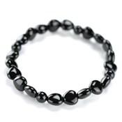 Kyoto Buddhist Rosary/Bracelet Bracelet, Onyx Heart-Shape