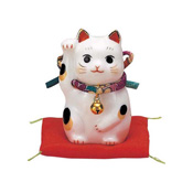 Damie Fukufuku Maneki Neko (Right Hand, Purple)