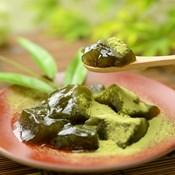 Matcha Tea Kudzu Warabimochi (w/Matcha Tea Flavored Soybean Flour)