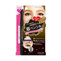 Isehan Heavy Rotation Powder Eyebrow Pencil, 01 Light Brown
