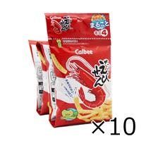 Calbee 蝦味先餅乾條 迷你4連包 48g x 10個