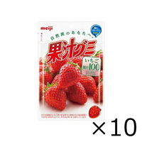 Meiji Juice Gummy, Strawberry 51g x 10 Bags