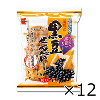 岩塚製菓 岩塚の黒豆せんべい 10枚 x 12個