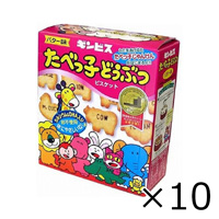 Ginbis Tabekko Animal Biscuits Butter Flavor 63g x 10