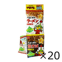 Oyatsu Company Baby Star, Various 4 Connected Packs, 72g x 20