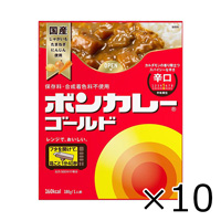 Otsuka Foods Bon Curry Gold, Hot, 180g x 10
