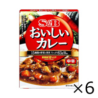 S&B Nattoku no Oishii Curry, Medium Hot, 180g x 6