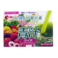 82 Types Of Vegetable Enzyme, Fruit Aojiru, Lychee, 3g x 25 Sticks