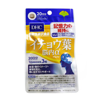 DHC 營養補品 銀杏葉 腦內α 20天份 (60粒)