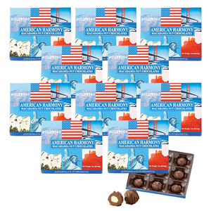 [Discount set] American Harmony Macadamia Nut Chocolate 9 pieces 1 box x 10 sets
