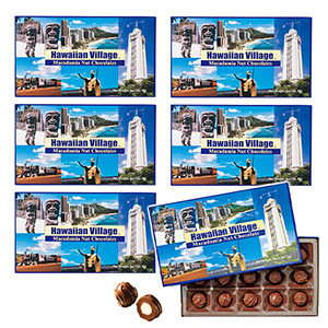 [Discount set] Hawaiian Village Macadamia Nuts Chocolate 15 pieces 1 box x 6 sets