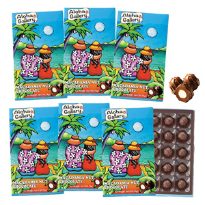 [Discount set] Aloha Gallery Macadamia Nuts Chocolate Lanikai 15 pieces 1 box x 6 sets
