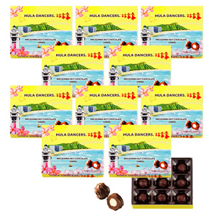 [Discount set] Hula Dancers Macadamia Nut Chocolate 9 pieces 1 box x 10 sets