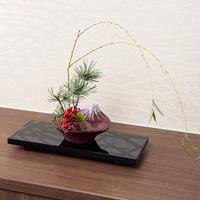 水盤 倒映富士 紅富士