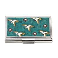 Kutaniyaki Card Case, Crane