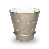 Takumi no Kura, Supreme Shochu Glass, Silver Pattern Night Sakura
