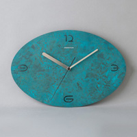 Time and Space (Oval) Large, (Blue Patinated Finish)