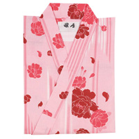 Easy, Fashionable Yukata & Obi Set, Women's, Arrow Feather Rose Pattern,  Pink
