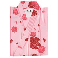 かんたんおしゃれ浴衣・帯セット 女性用 矢羽のバラ柄 ピンク