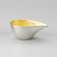 Katakuchi Sake Cup, Small, Gold Leaf