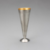 Champagne Glass, L, Gold Leaf