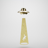 UFO Wind Chime, Golden
