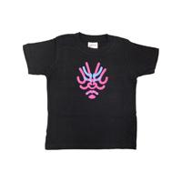 [歌舞伎座原創商品] 隈取屋一門兒童T恤 黑色 130