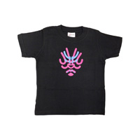 [Kabuki-za Original] Kumadori-ya Ichimon Kids' T-Shirt, Black 130