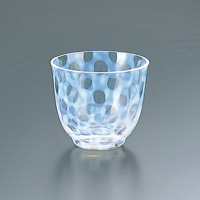 Taisho Roman Glass, Iced Tea Glass, Polka Dot