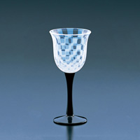 Taisho Roman Glass, Wine Glass, Checkered
