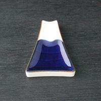 Deep Mt. Fuji Small Plate, Blue