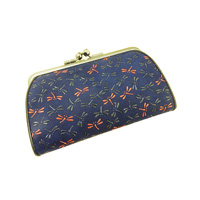 Inden Dragonfly Pattern Oyako Design Clasp-Opening Purse